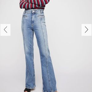 Free people fire cracker flare jeans (never worn)